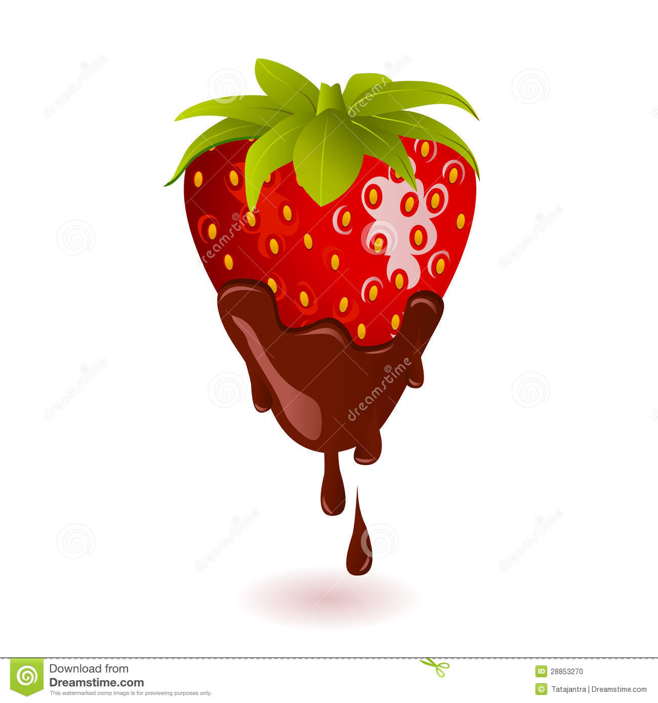 Chocolate dipped strawberries clipart.