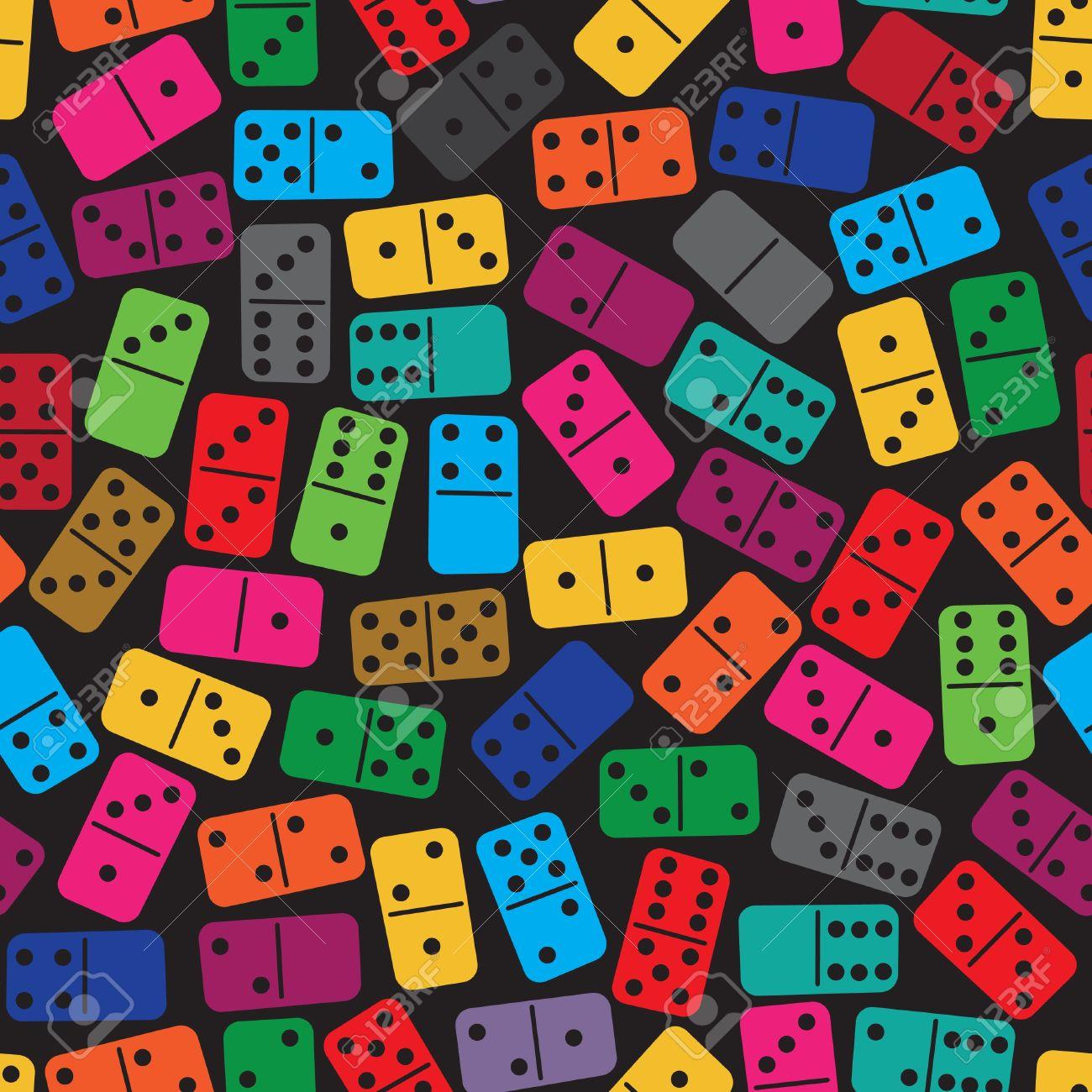 Colored domino clipart.