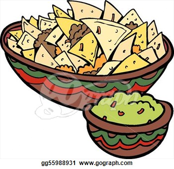 Chips and dips clipart.