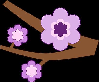 Purple, Flower.
