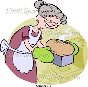 baking bread Vector Clip art.