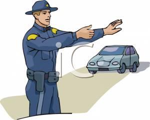 State trooper clip art.