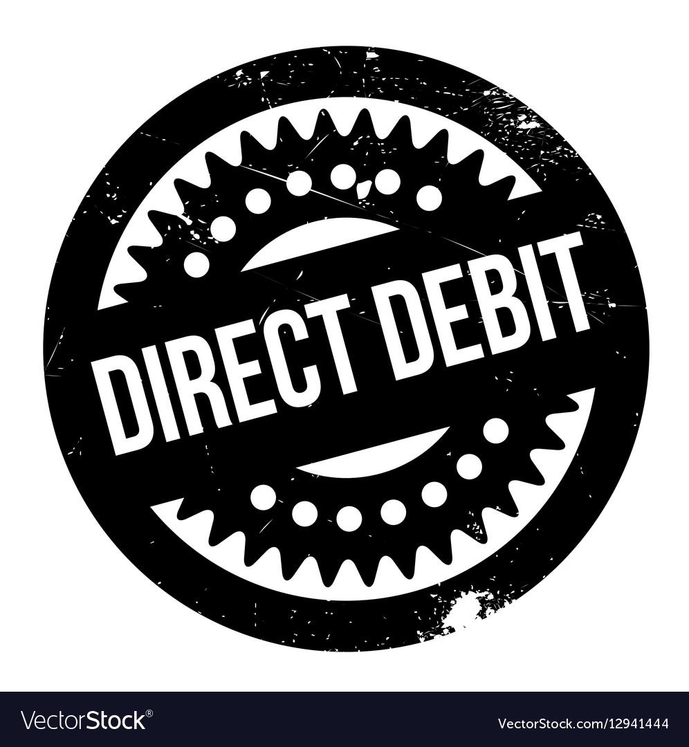 Direct Debit rubber stamp.