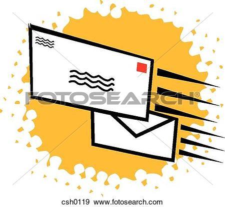 Stock Illustration of direct mail csh0119.
