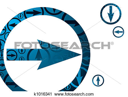 Clipart of arrow direct k1016341.