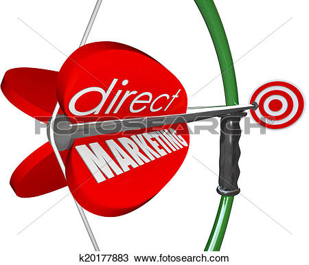 Stock Photo of Direct Marketing Bow Arow Target New Customers.