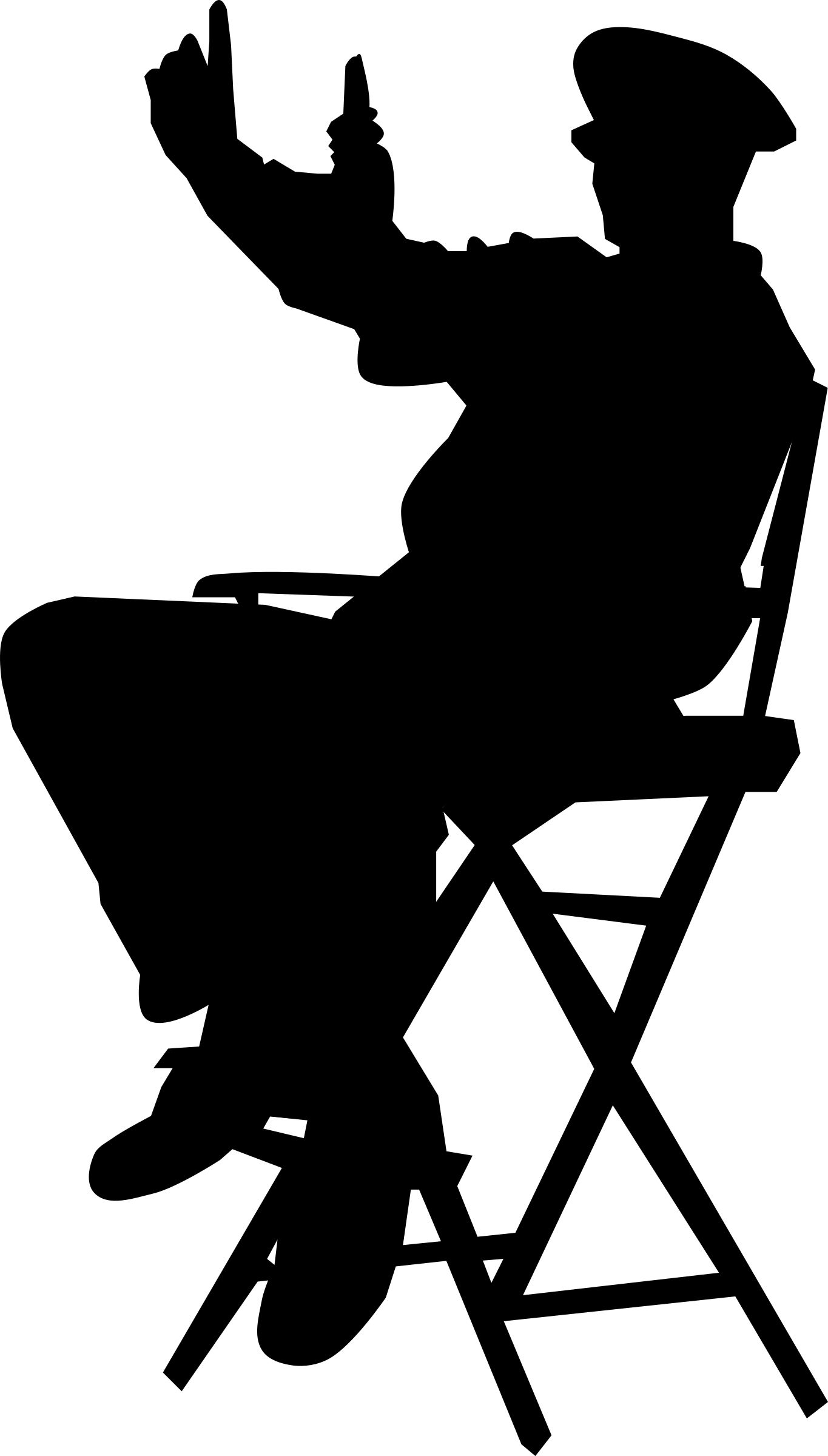 Clipart director in chair.