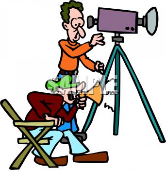 Cartoon Movie Director Clipart Free.