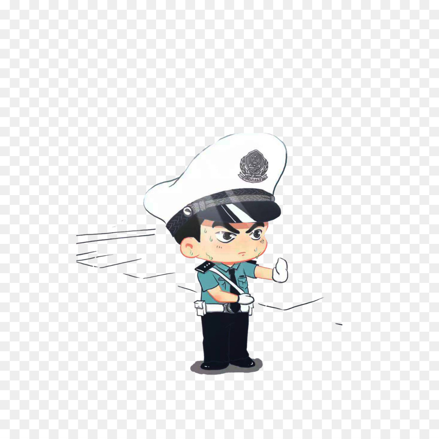 Cartoon Police officer Avatar Illustration.