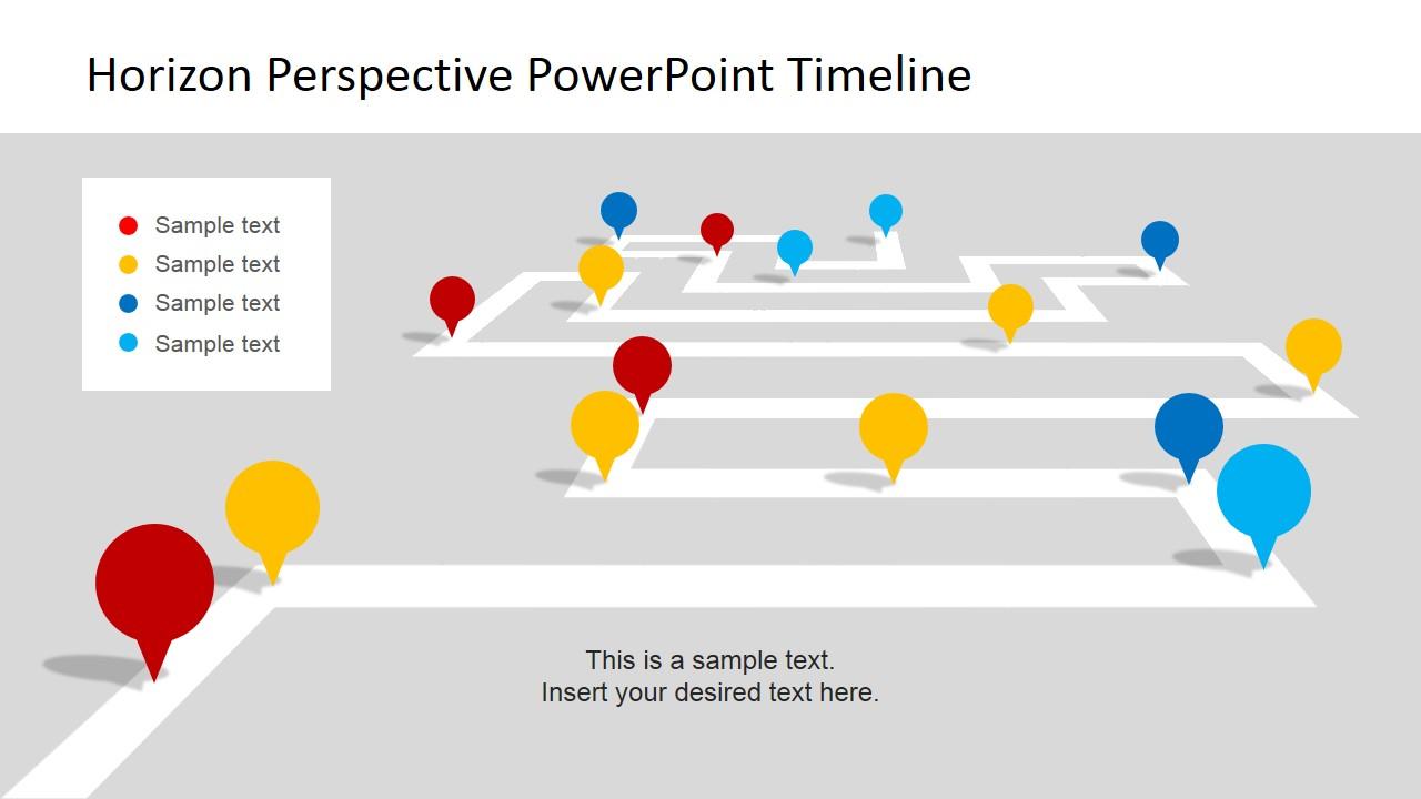 Horizon Perspective PowerPoint Timeline.