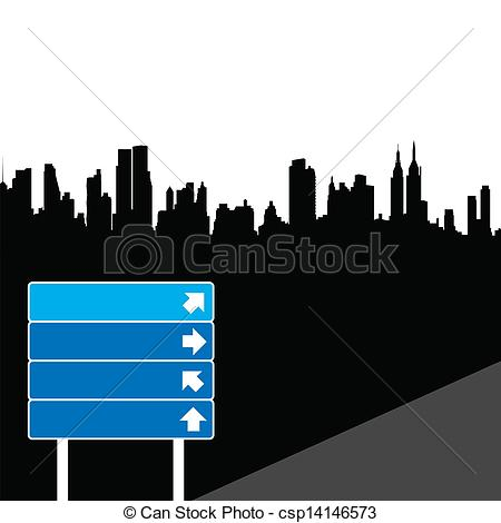Vectors Illustration of direction sign.