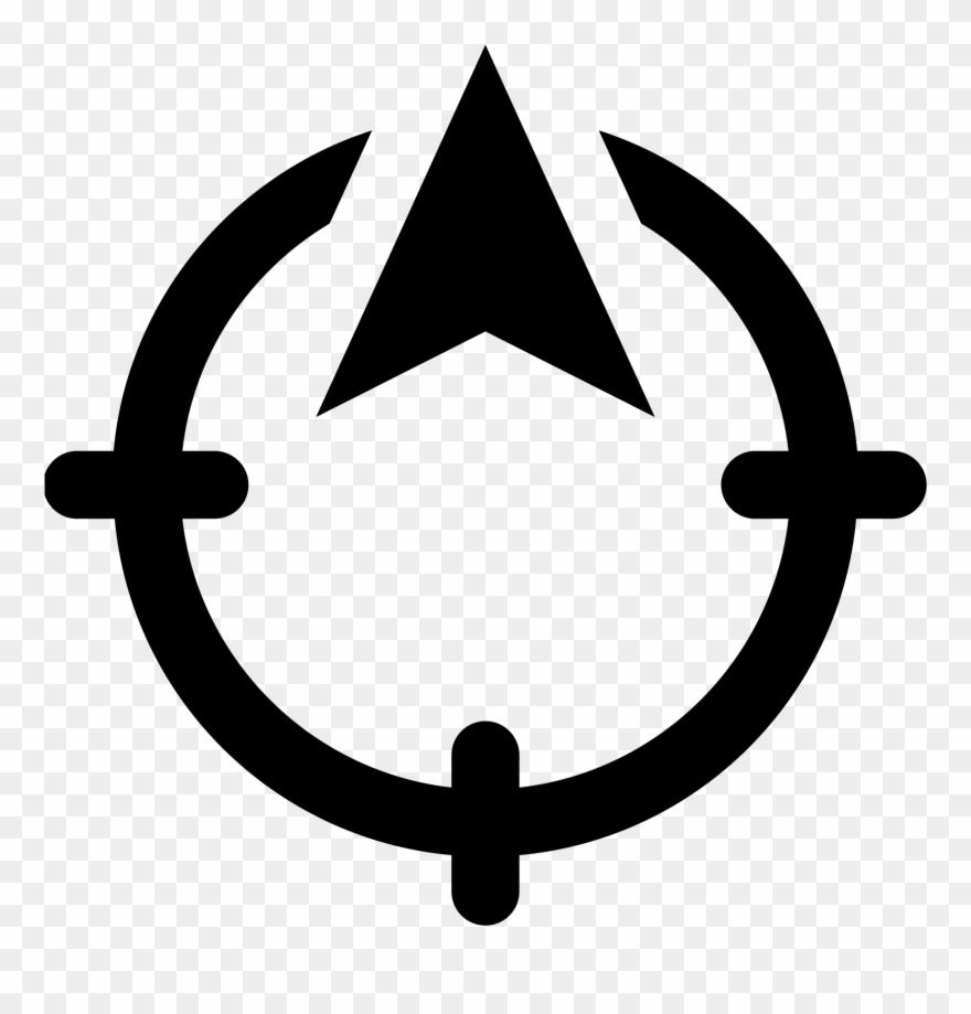 North Direction Icon.