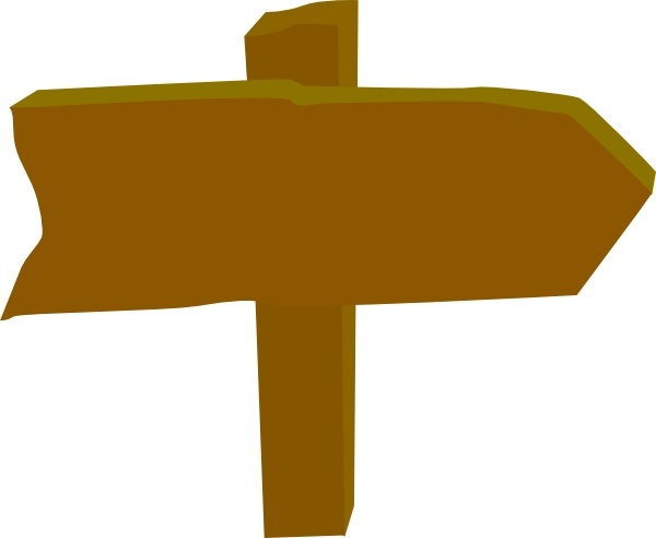 Wood Sign Post Direction clip art Free vector in Open office.