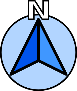 North direction clipart.