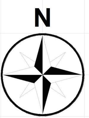 North Direction Symbol.