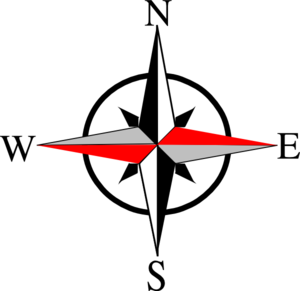 Clipart compass direction.