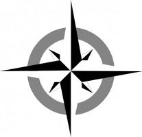 North Direction Symbol Clipart.