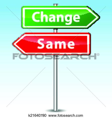 Clipart of Vector change and same direction sign k21640780.