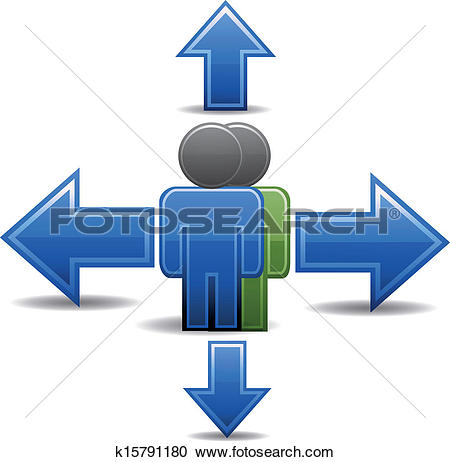 Clipart of choosing the right direction k15791180.