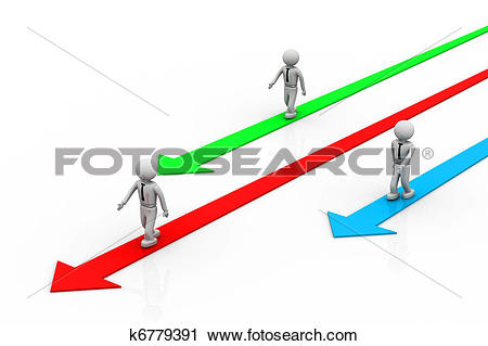 Clipart of Selecting the right direction k6779391.