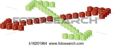 Clipart of green or red direction k16201964.