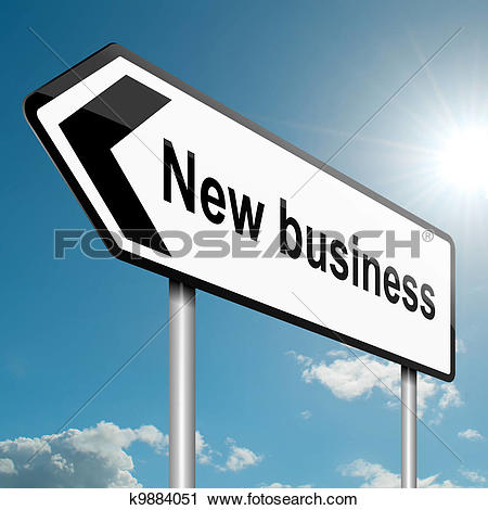 Clipart of New business direction. k9884051.