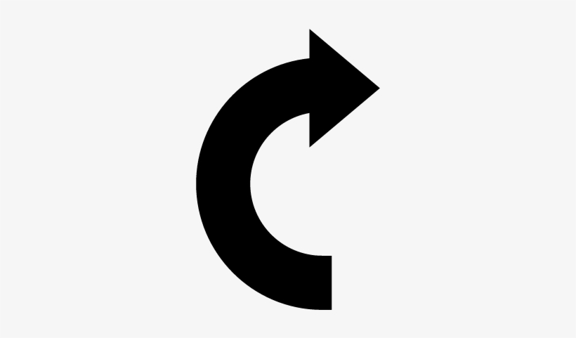 Curve Arrow Vector.