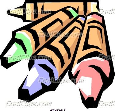 Crayons Vector Clip art.
