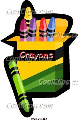 box of crayons Vector Clip art.