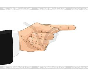 Directive gesture.