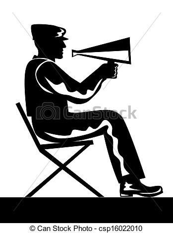 Clipart of Director with Megaphone.