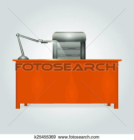 Clip Art of Office Desk Director k25455369.