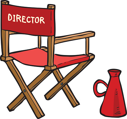 Red Directors Chair Clip Art.