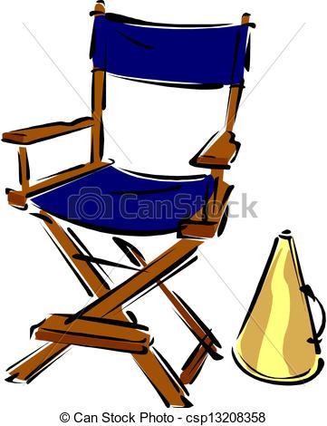 Directors Chair Clip Art.