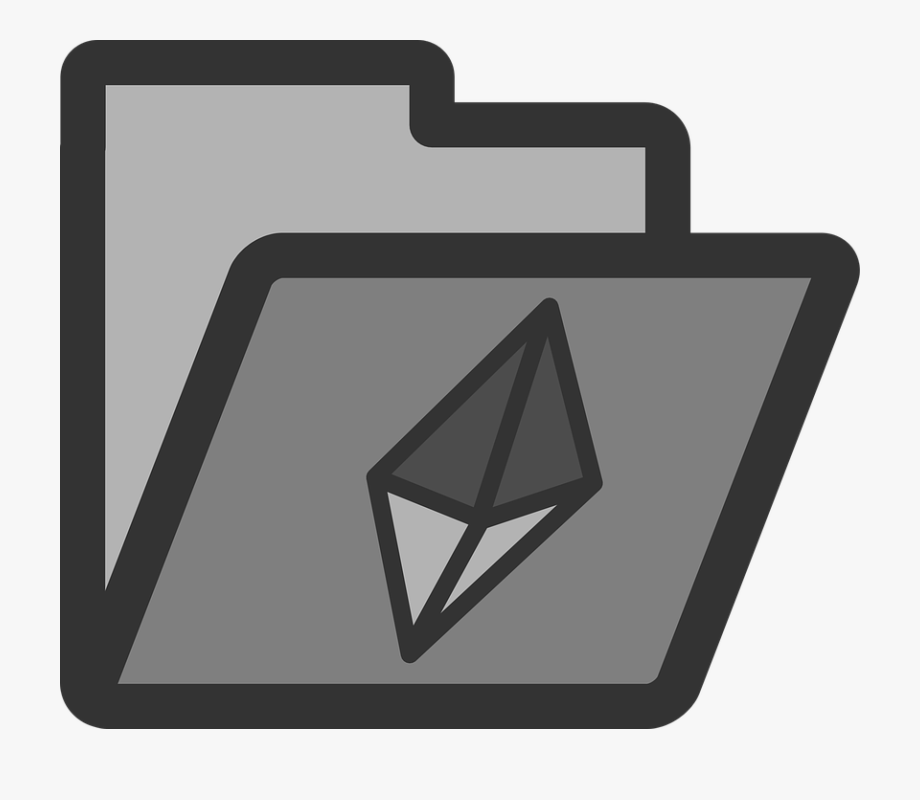 Folder Crystal Computer Directory Icon Symbol.