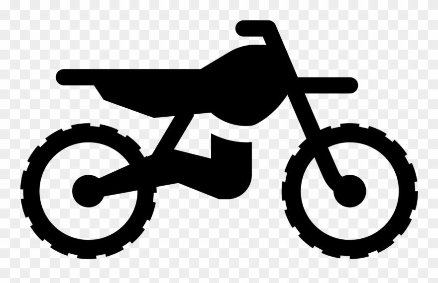 Dirt Bike Filled Icon.