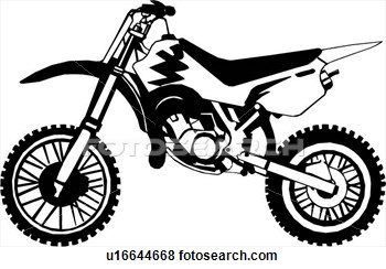 Motorcycle Dirt Bike Clipart.