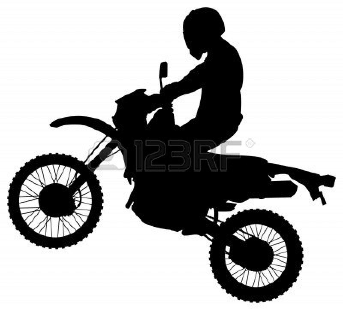 Dirt Bike Clipart Black And White.