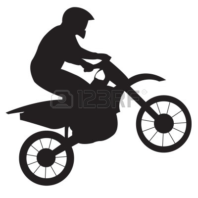 Dirt Bike Clipart Black And White.