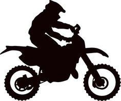 "Metal Dirt Bike Heart Attack Motocross Silhouette 17"" x 9""."