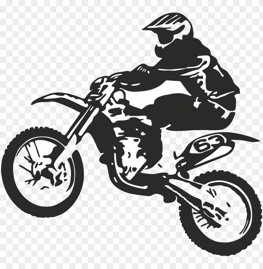 dirt bike wheelie logo PNG image with transparent background.