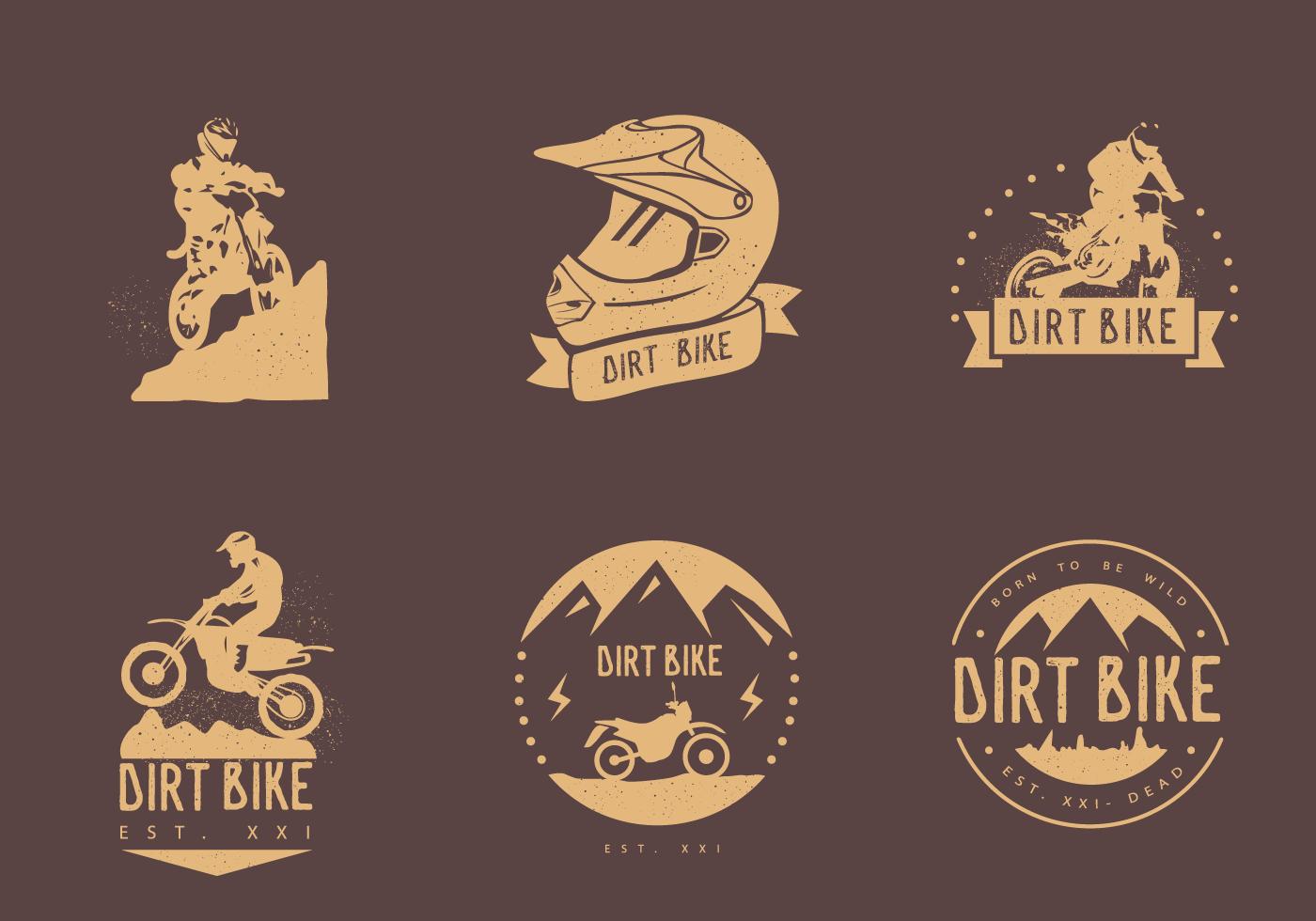Dirt Bike Logo Free Vector Art.