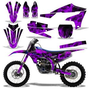 Details about Dirt Bike Graphics Decal Kit + Number Plates For Yamaha  YZ450F 2018+ ICE PURPLE.