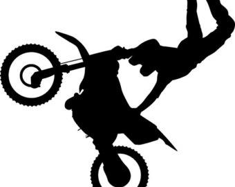 Motocross silhouette.