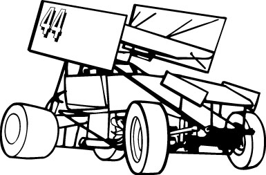 Free Sprint Car Silhouette, Download Free Clip Art, Free.