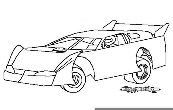 Dirt Race Car Clipart.