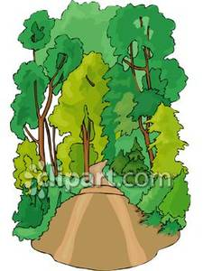 Dirt Road Camping Clipart.