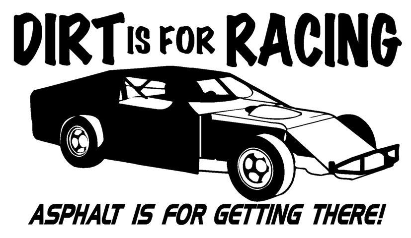 Dirt track race car clipart.