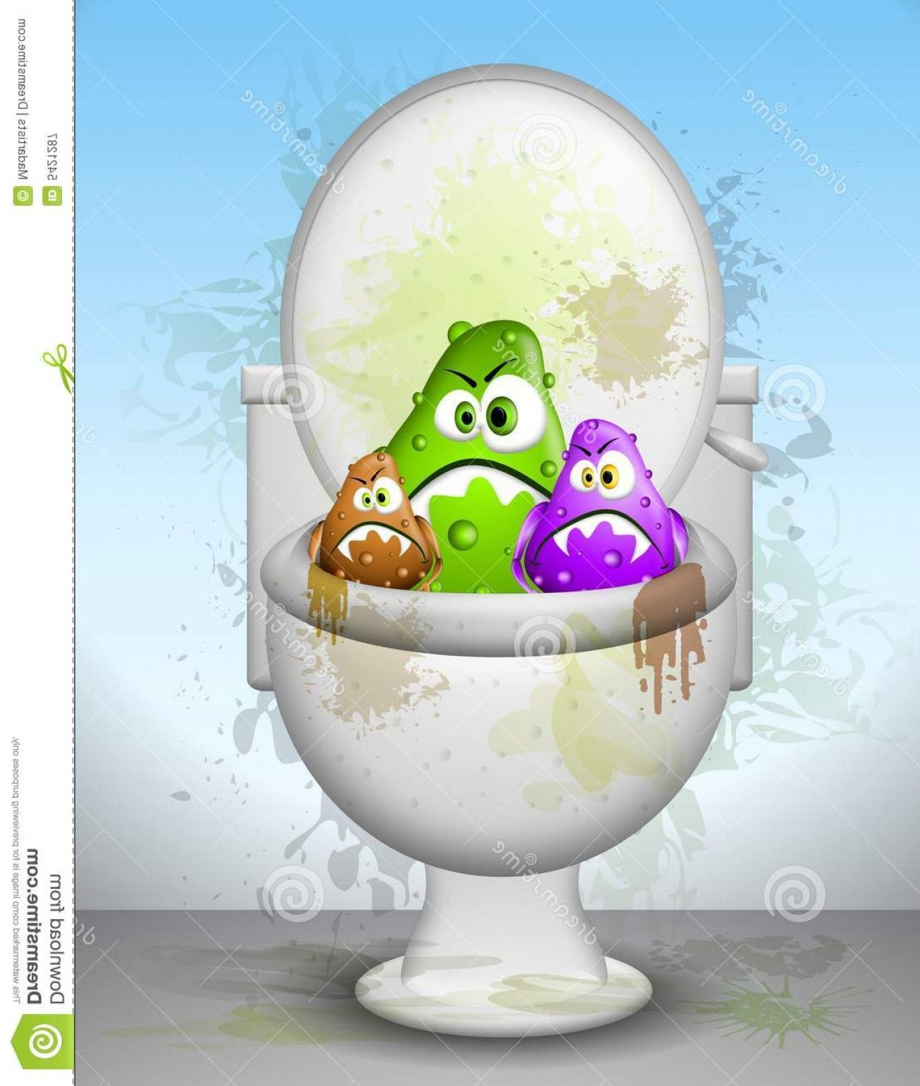 Cartoons Dirty Bathrooms: Royalty Free Stock Photography Ugly Dirty.