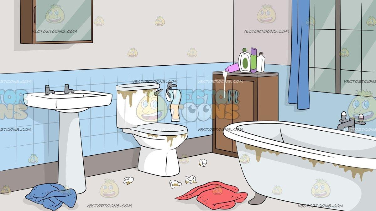 Untidy Bathroom Background.